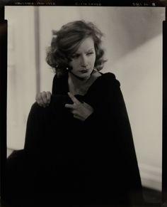 Portrait of Greta Garbo by Edward Steichen, 1928