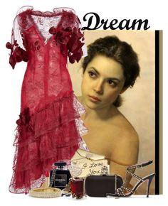 """Dream"" by dyanjoy ❤ liked on Polyvore featuring Rodarte, Dolce&Gabbana, Monsoon, Chanel, Alexander McQueen, Pura López, David Yurman and Dot & Bo"