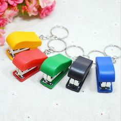 71ac15ed16e47 Portable Keychain Mini Cute Stapler for Home Office School Paper  Bookbinding EC