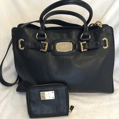 Michael Kors East/West Satchel  East/West satchel, nice soft black leather! Used once! This is sold without the wallet! The purse is in impeccable shape! Please use the offer button! Thanks! Please no low ballers remember posh gets 20% Michael Kors Bags Satchels