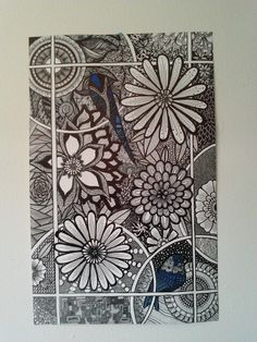 Blue Birds Zentangle