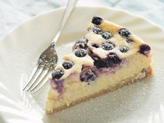 "Bringing together sweet blueberries and sour lemons, this simple cheesecake from Anneka Manning's cookbook <a href=""http://www.bookdepository.com/book/9781743365717?redirected=true&selectCurrency=AUD&w=AF45AU96J3C9X6A8Z3B2&gclid=CjwKEAjw_7y4BRDykp3Hjqyt_y0SJACome3T0TJKl3HLDPkSMz5HZFIom5sG2phgxGCuaCu2y9OUmxoCLinw_wcB"" target=""_blank"">'BakeClass'</a> is light but luscious. It's the perfect end to a lazy summer meal."