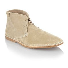 Natural suede chukka boots -