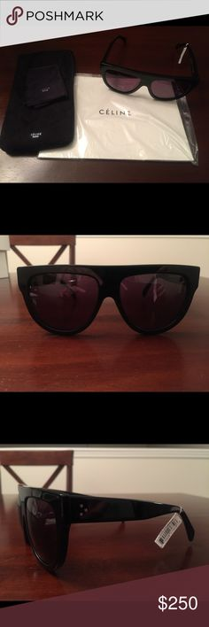 Celine - Shadow Sunglasses Brand new.  Never worn.  Purchased from a fellow posher but they didn't look good with my face shape.  Comes with case and cleaning cloth. Celine Accessories Sunglasses