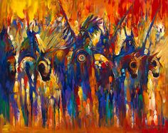 Native American Contemporary Paintings | Native American Fine Art Modern Abstract Giclee Print Farrell Cockrum ...