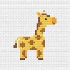 An other addition to the cute animal series I am building up for my patterns. Xmas Cross Stitch, Cross Stitch Letters, Cross Stitch Cards, Simple Cross Stitch, Cross Stitch Baby, Cross Stitch Animals, Cross Stitching, Cross Stitch Patterns Free Easy, Disney Cross Stitch Patterns