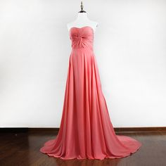 Find More Prom Dresses Information about Real Photos Long  Coral Prom Dress 2016  A Line High Slit Sweetheart Sleeveless Formal Party Gown,High Quality gown backless,China dress vintage Suppliers, Cheap gowns for special occasion from Hello May Dresses Custom Made on Aliexpress.com