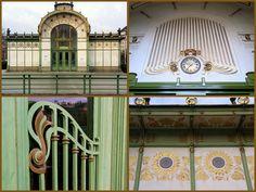 Karlsplatz, Vienna, Austria. Beautiful Art Nouveau underground station.