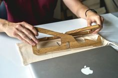 Small size and light weight allow to carry laptop stand with you wherever you go.