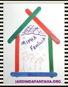 Colagem Artística para trabalhar o tema Minha Família