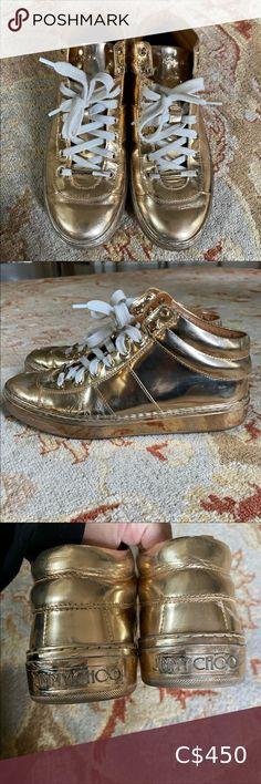 Jimmy Choo Gold Running shoes size 38 Jimmy Choo trainers Jimmy Choo Shoes Sneakers Lace Sneakers, Leather Sneakers, Jimmy Choo Sunglasses, Purple Handbags, Jimmy Choo Shoes, Red Bottoms, Christian Louboutin Shoes, Metallic Leather, Running Shoes