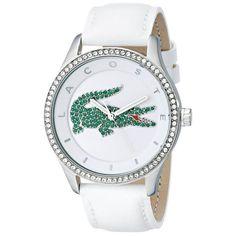 Montre Lacoste 2000893 - Montre Blanche Crocodile Femme