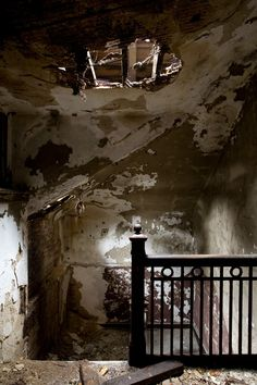 The top floor of the nurses' quarters of Riverside Hospital, located on North Brother Island in the East River, which was originally built to quarantine smallpox patients. The infamous Typhoid Mary was confined to the hospital for over two decades until 1938.