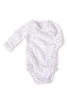 aden + anais Long Sleeve Kimono Bodysuit (Baby Girls) available at #Nordstrom