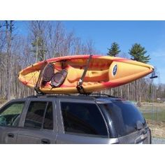 PK-KR2 2 Pairs of Black Universal Kayak J Racks Car Top Carriers.  replace bolts with stronger ones and replace cam straps with ratchet straps.  Still good deal.