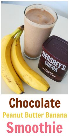Chocolate Peanut Butter Banana Smoothie – SO EASY AND SO GOOD! Tastes like a Wendy's Frosty! The Effective Pictures We Offer You About smoothie recipes for kids A quality picture can tell you many things. Smoothie Bowl Vegan, Smoothie Fruit, Easy Smoothie Recipes, Easy Smoothies, Smoothie Drinks, Frozen Banana Smoothie, Homemade Smoothies, Breakfast Smoothie Recipes, Healthy Banana Smoothies