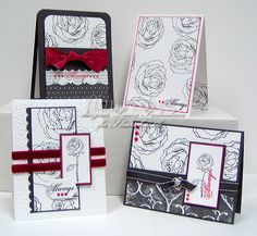 Nice rose cards by scrapnextras.com in one of my fav color combos!