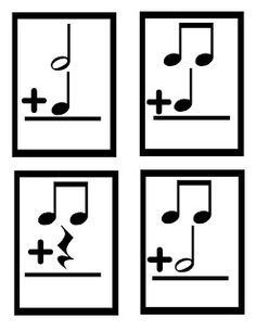 Music Math Cards; use as a game or as a center!