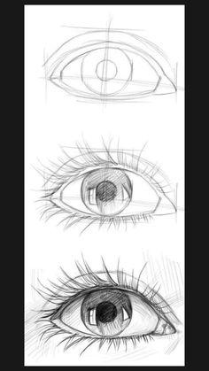 Realistic Pencil Drawings, Art Drawings Sketches Simple, Pencil Art Drawings, Eye Pencil Drawing, Sketches Of Eyes, How To Draw Realistic, Sketches Of Animals, Horse Drawings, Amazing Drawings