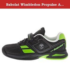 Babolat Propulse JR Boys Tennis Shoes Silver//Black//Blue Size 2.5