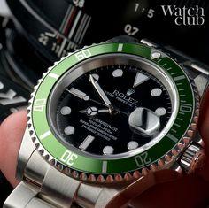 2003 green bezel anniversary Sub, with 1st series 'flat 4' olive green aluminium bezel insert #submariner