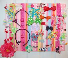 storage for hair accessories barrettes headbands rubberbands