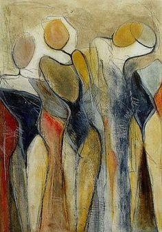 """Angela Fusenig, """"Nebeneinander"""" Mit einem Klick auf """"Als Kunstkarte versenden"""" versenden Sie kostenlos dieses Werk Ihren Freunden und Bekannten."""