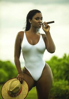 The Blackest Beauty — thebiggest1: Bernice Burgos in all white