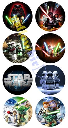 Star Wars Lego Printable Cupcake Toppers