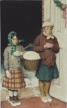 Vintage Christmas Art ~ by Norman Rockwell