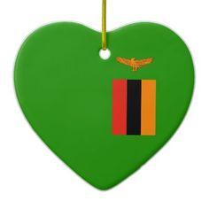 Shop Zambia – Zambian Flag Ceramic Ornament created by TheFlagGiftShop. Zambia Flag, National Flag, Paper Napkins, White Porcelain, Flags, Ceramics, Ornaments, Prints, Ceramica