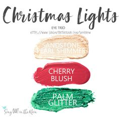 Christmas Lights Eye Trio uses three SeneGence ShadowSense : LE Palm Glitter, Snow and Cherry Blush. These creme to powder eyeshadows will last ALL DAY on your eye. #shadowsense #trio #shadowsensetrio #eyeshadow #chocolatesweetheart