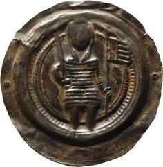 Brakteat Otto, Meissen, Markgraf (1125-1190)|Münzherr Meissen, o.J. (1156-1190) Münzkabinett Material and Technique Silber, geprägt, Revers Tuscheziffer: 154 Measurement Durchmesser: 36,2 mm, Gewicht: 1,089 g
