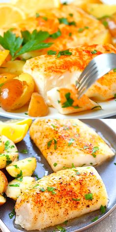 Easy baked cod with lemon olive oil salt and cayenne pepper One of the best cod recipes baked in the oven Moist juicy with 5 mins prep time So good 116249234119545398 Best Cod Recipes, Salmon Recipes, Recipes With Cod Fish, Baked Cod Fish Recipes, Cod Fillet Recipes, Recipe For Baked Fish, Baked Alaskan Cod Recipe, Recipe For Cod Fish, Cod Recipes Oven