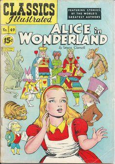 1948 comic book-Classics Illustrated-Alice in Wonderland