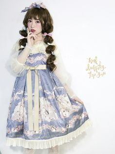 Lullaby -Sing A Lullaby For You- Printed Lolita High Waist JSK