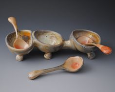 Jake Johnson | Wood-fired serving vessel, with shino-glazed spoons.