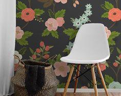Flora • facile à appliquer amovible Peel ' n coller papier peint