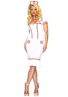 Womens Nurse Costume.... definitely more conservative than most nurse costumes I see. I like this one.