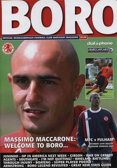 Middlesbrough vs Fulham 2002 Cover Star Massimo Maccarone