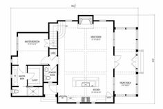 Cottage Style House Plan - 3 Beds 2.5 Baths 1687 Sq/Ft Plan #443-11 Main Floor Plan - Houseplans.com