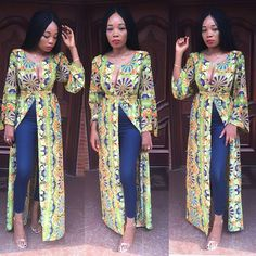 Best latest african fashion look ! African Maxi Dresses, African Attire, African Wear, Ankara Gowns, African American Fashion, African Print Fashion, African Tops, African Women, African Traditional Dresses