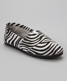 Look at this #zulilyfind! Shoes of Soul Black & White Zebra Slip-On Shoe by Shoes of Soul #zulilyfinds