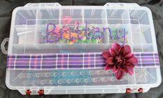 Personalized Rainbow Loom Storage Organizer Box by teriann177, $15.00
