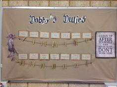Harry Potter classroom Dobby Bulletin Board Jobs Chart