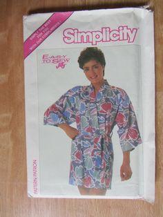 #Esme #Marshall or #Julie #Wolfe or #Alexa #Singer Simplicity 0017 Womens Vintage Jiffy Kimono Robe Belt Pattern Sz 6 20 Uncut | eBay