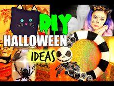DIY Halloween Decor! Jack Skellington Wreath, Spider Glow Jar and More! Pinterest Inspired! - YouTube