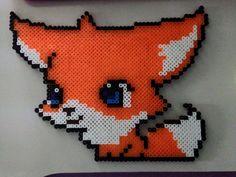 Fox perler beads by Angel-Bear