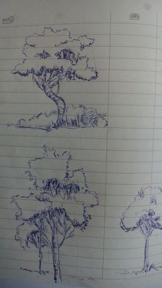 Keep up with trends on landscaping, even though it may be difficult to do. Tree Pencil Sketch, Paper Folding Art, Outline Art, Color Plan, Construction Drawings, Drawing Techniques, Ink Pen Drawings, Urban Sketching, Colorful Drawings