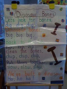 dino poem- kids loved it! maybe even dress up like a paleontologist with glasses and everything.